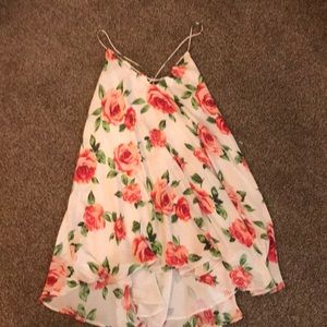White Floral Rose Dress